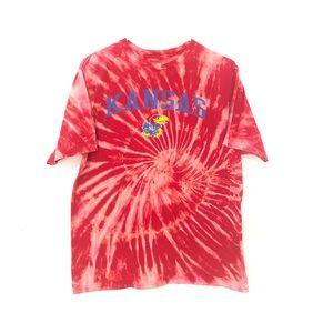 Kansas Jayhawks custom dyed tshirt